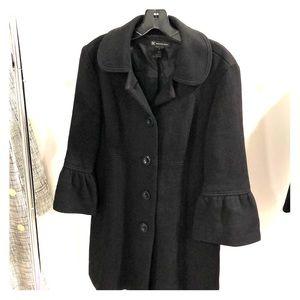 INC bell sleeve black coat